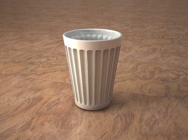 Garbage can - Cup 3d printed