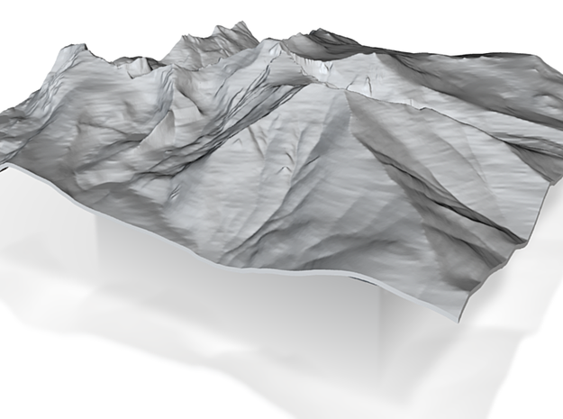 8'' Longs Peak Terrain Model, Colorado, USA 3d printed