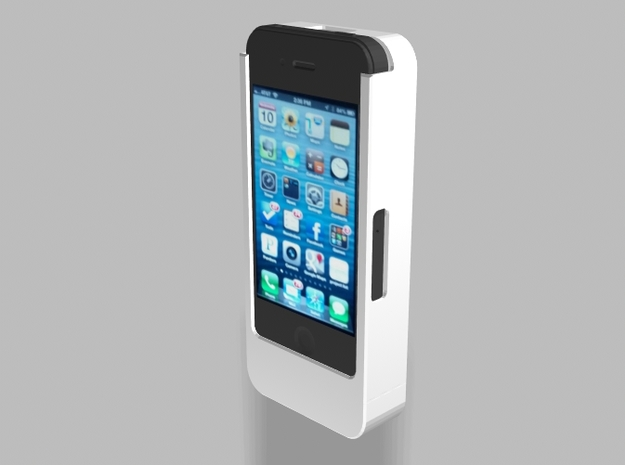 iPhone4/4s Nautilus 2500mah Charger with USB Out 3d printed