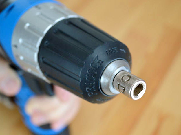 Coffee Grinder Bit for Drill Driver CDR-S 3d printed Set Image (Keyless Chuck)