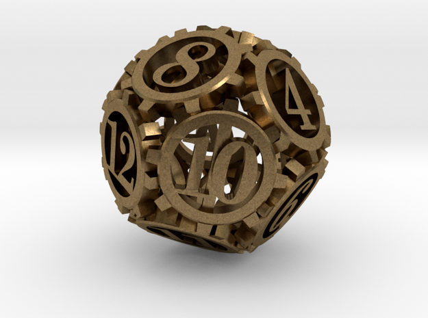 Steampunk Gear d12 3d printed