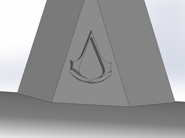 AC3 Hatchet Head 3d printed