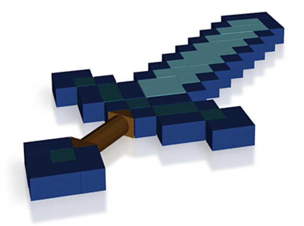 Lego Minecraft Diamond Sword 3d printed
