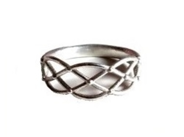 Celtic Weave Ring 3d printed Sterling Silver