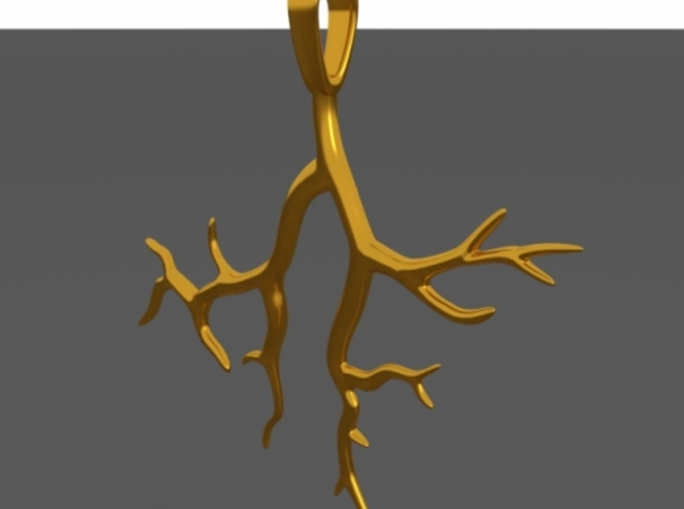Tree Branch Pendant Type 2 3d printed