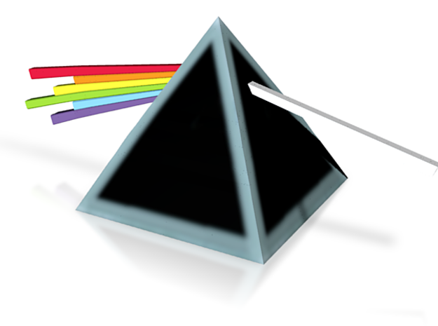 Dark Side of the Moon Prism 3d printed
