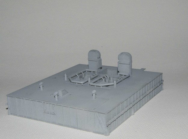 1/400 Shuttle MLP, launch pad NASA 3d printed Three-quarter view showing deck details.