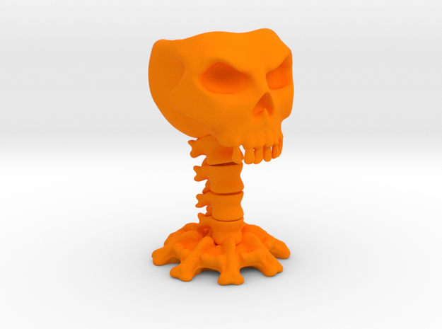 Decorative skull for holding items 3d printed