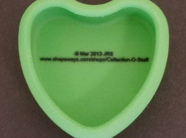 "Candy Heart ""fuck it"" - Green/Pink 3d printed Back"
