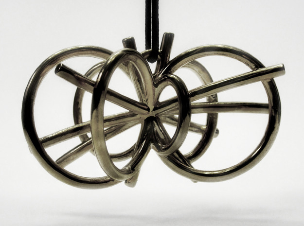 Higgs Boson Necklace 3d printed
