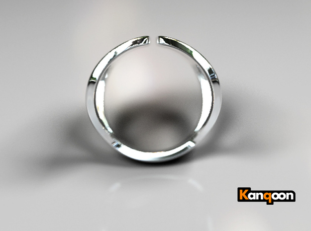 Valentin - Ring - US 6¾ - 17,12 mm inside diameter 3d printed Polished Silver PREVIEW