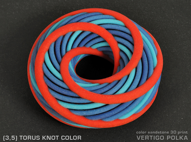 Torus Knot color - 3inch 3d printed