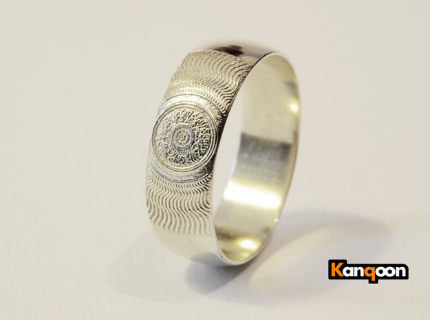 Martha - Ring - US 7¼ - 17.53mm 3d printed Polished Silver printed 21.5 mm