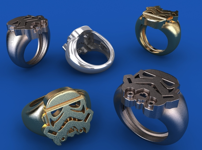 Stainless Steel, Gold Plated matte & Silver renders