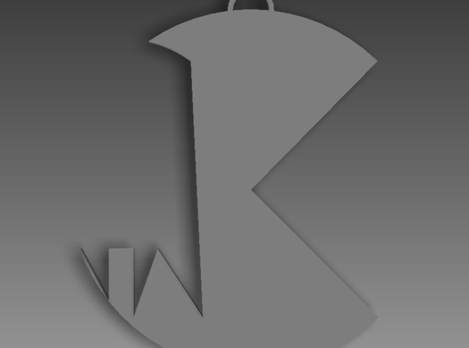 Overhead render of the key-chain