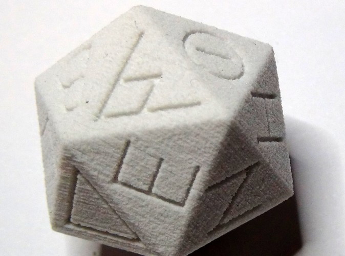 Replica Ancient Egyptian D20 in Sandstone