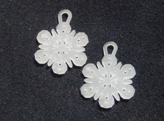 Small Snowflake Earrings in Sparkling Frosted Ultra Detail