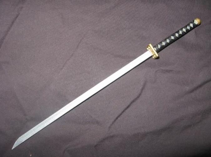 A painted model of the actual sword