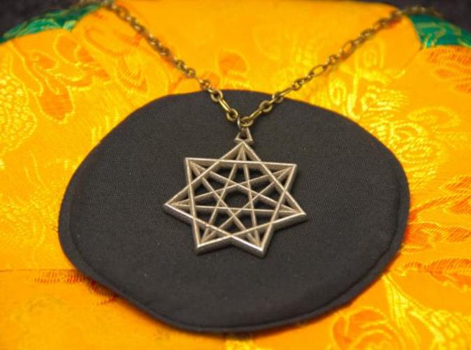 Photo of Stainless Steel pendant on a chain.
