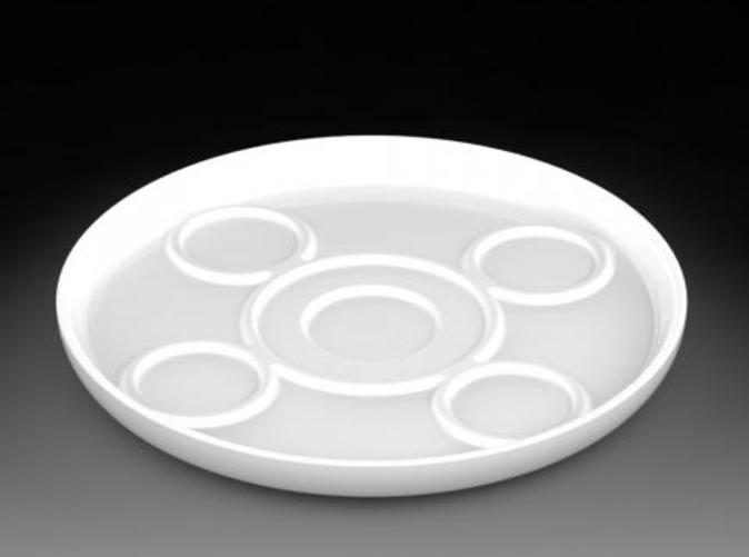 Top 3 quarter view of Sake Set Tray
