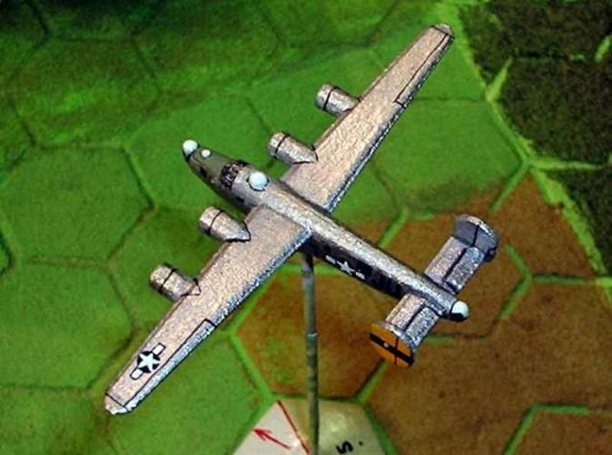Top view of painted model
