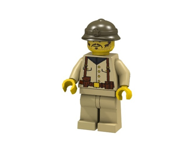 Vietnamese Soldier (Render of an example Usage)