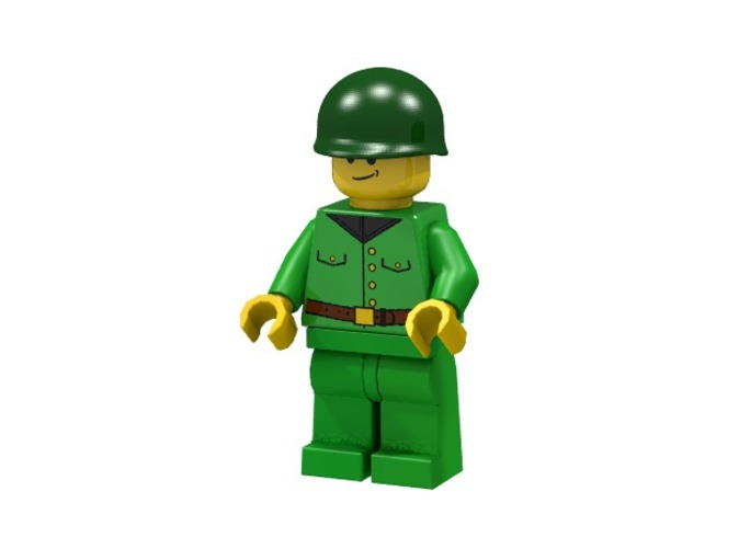 American Soldier (Render of an example