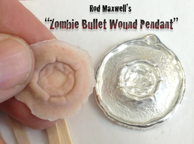 Shown with a silicone prosthetic appliance that was cast directly from the back of the pendant! Silicone not included.