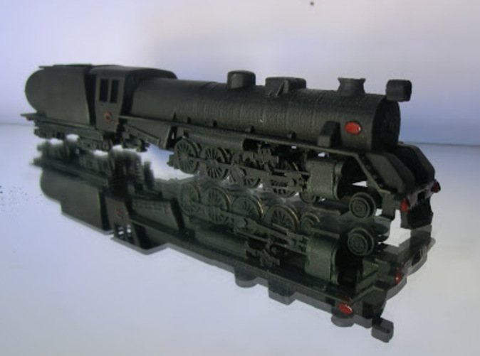 Fitted onto 4-8-2 Chassis Printed with Strong & Flexible