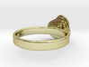 Gold Mine ring - UK N (inside diameter 17.2mm) 3d printed