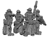 Female Stealth Gang with Laser Rifles 3d printed This is a 3d render, not a photograph of the model printed in the material.