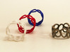 Rings and Things 3d printed coloured plastics and stainless steel