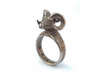 Bellyn Ring 3d printed Stainless Steel