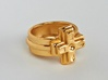 Ring of the gamer 3d printed This material is Gold Plated Brass