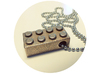 Lego Pendant 3d printed Lego Brick Pendant (Shown here in Stainless Steel)
