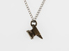 Anvil Necklace 3d printed Anvil Necklace - Antique Bronze