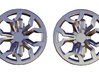 Cufflinks R8 wheel design with brake caliper 3d printed