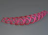 Woven X Circles Necklace 3d printed Woven X Circles Necklace (Pink)