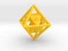 """""""Open"""" d8 - Eight-sided die 3d printed"""