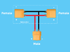 Power Battery door Upgrade-Kit 3d printed Wiring diagram Power Battery door