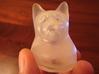 Cat Gasp (5 cm/2 inch) 3d printed Frosted Ultra Detail