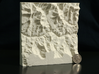 6'' Grand Canyon, Arizona, USA, Sandstone 3d printed Photo of actual model, with US quarter to scale; North is up
