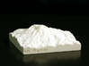 3'' Mt. Rainier, Washington, USA, Sandstone 3d printed Photo of actual model, looking North