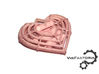 Steampunk Heart Pendant 3d printed White plastic stained with red wine