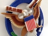 US Great Seal Emblem_Keychain 3d printed Angle view