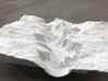 8'' Yosemite Valley Terrain Model, California, USA 3d printed Yosemite valley model rendered in Radiance, viewed from the West, past El Capitan and toward Half Dome.