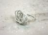 Sprouted Spiral Ring (Size 7) 3d printed White Strong and Flexible