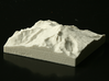 3'' Mt. Baker, Washington, USA, Sandstone 3d printed Photo of actual model, viewed from the Southwest