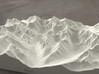 8''/20cm High Tatras, Poland/Slovakia, Sandstone 3d printed Radiance rendering of model, viewed from Poland, looking SSW