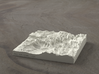 4'' Zion Canyon, Utah, USA, Sandstone 3d printed Radiance rendering of Zion Canyon model from the south